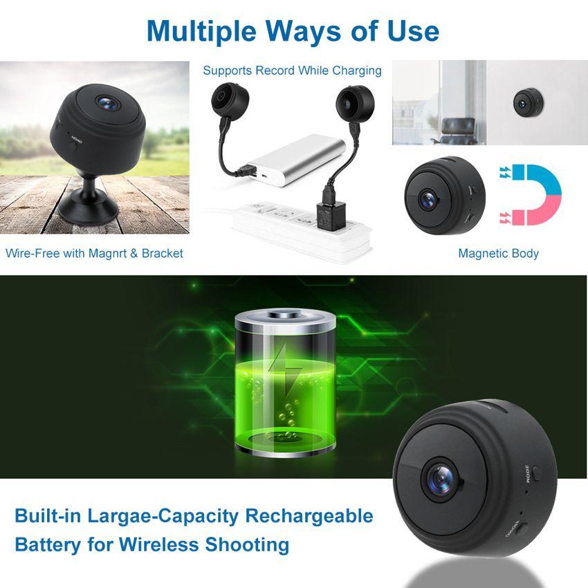 A9 1080P Mini Wifi Kamera Infrarot-Nachtsicht Micro Camera Wireless Full HD IP-P2P Mini Motion-Detection-DV DVR Kamera SQ8 SQ11 SQ12 GF-07