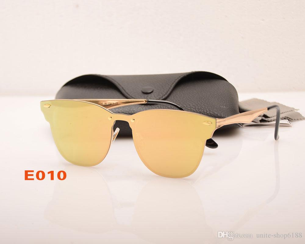 10 unids de alta calidad para hombre gafas de sol gafas de moda Gafas de gafas de moda para mujer con marco de metal Caja colorida Rojo Diseñador Vasl Sun Casas Negras Rocq