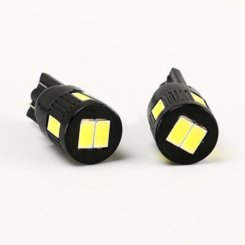 4pcs Emballé W5W T10 LED 194 168 2825 501 6SMD Largeur LED lampe de voiture lampe de lecture de plaque d'immatriculation d'ampoules