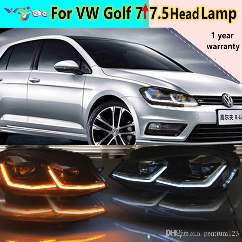 2 adet Volkswagen Golf Yedi Işıklar Meclisi Golf Işıkları için YENI Golf Golf 7.5 Far