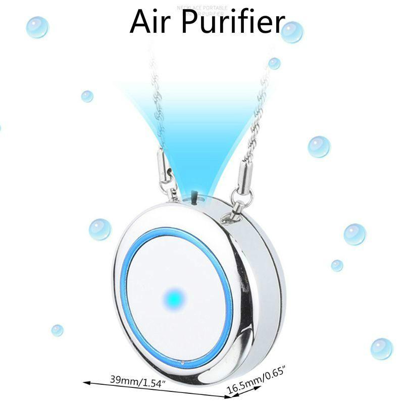 Collier Purificateur d'air Mini USB Portable Portable Portable Ferrinateur Loniseur négatif Anion Nettoyant Air Air Pour Enfants Étudiants Olders Adultes Adultes