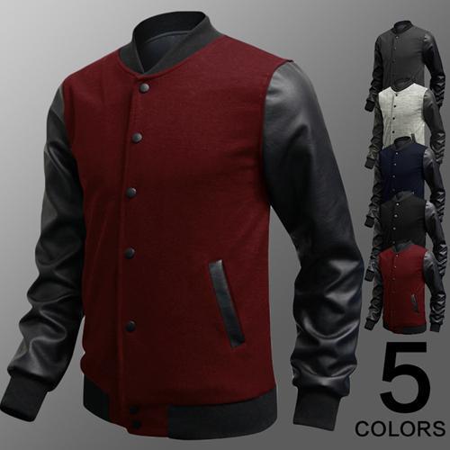 Toptan-Erkek Varsity ceketler Beyzbol Koleji Coats YENİ Öğrenci Spor Coat Erkekler Giyim Hoodies Sweatshirt yaka standı