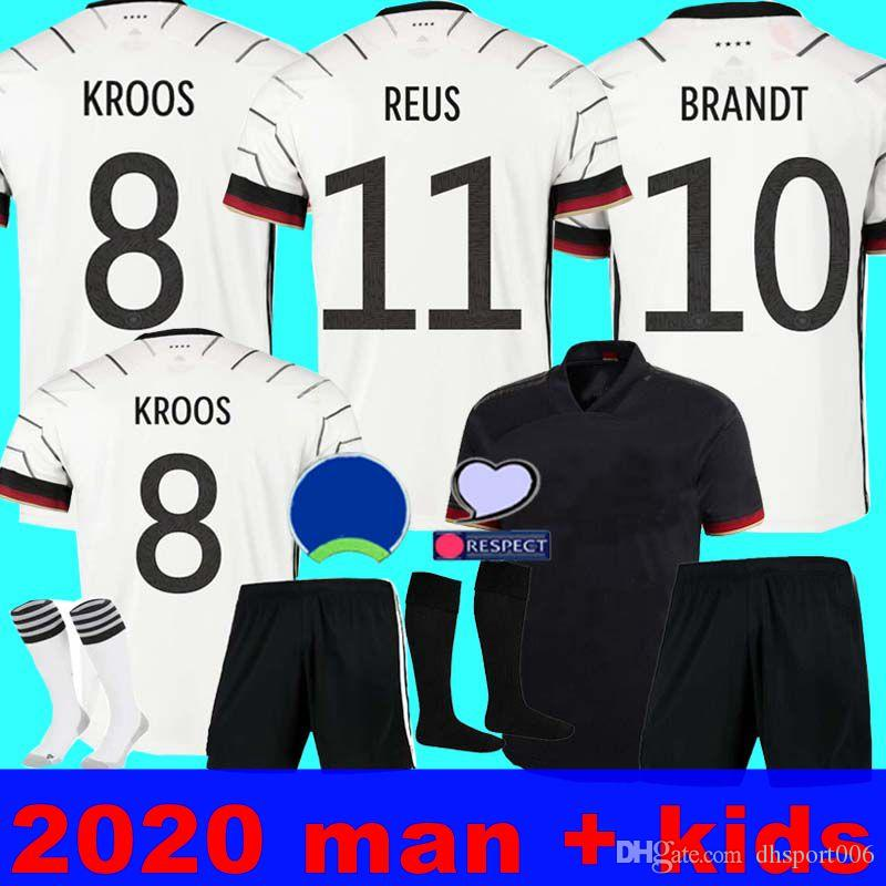 2020 유로 독일 축구 유니폼 홈 키트 2020 (21) HUMMELS KROOS 드락 슬러 레 우스 MULLER GOTZE 유럽 컵 축구 셔츠 유니폼 남성 + 아이 K