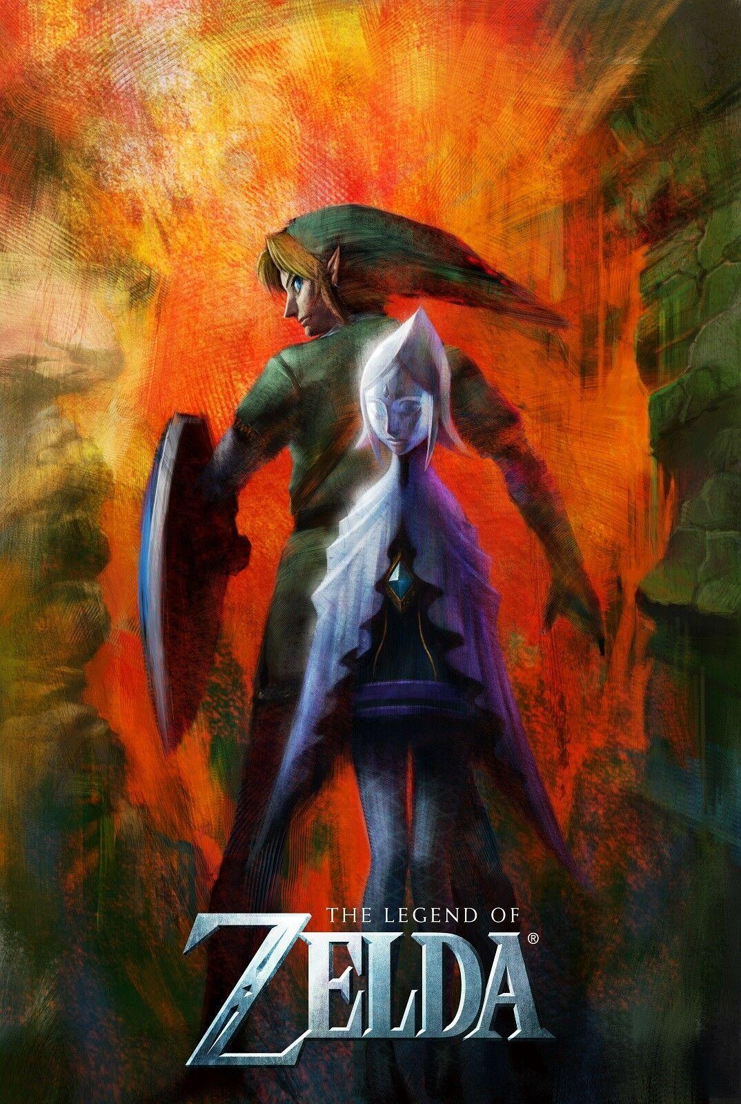 The Legend of Zelda Digital wall decor Art Silk Print Poster 686868