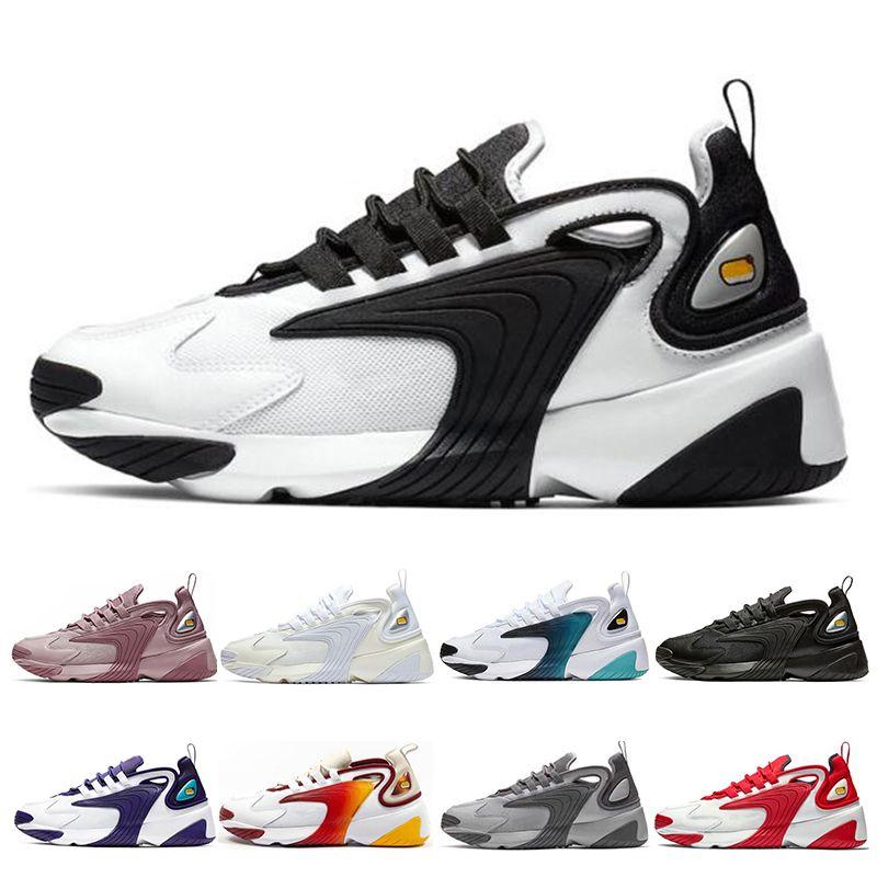 Nike M2K Zoom النساء M2k تيكنو تكبير 2K الرجال الاحذية سباق الثلاثي أسود أبيض أحمر أزرق الرياضة في الهواء الطلق أحذية الرجال الاحذية حجم 36-45