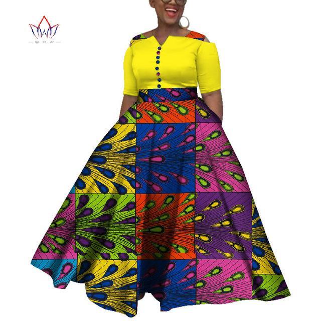 2019 Даники Африканские Платья для Женщин Красочные Ежедневные Свадебные Размер S-6XL Африканские Платья для Женщин Длина Лодыжки WY3853