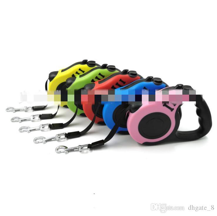 Hundeleinen Automatische einziehbare Hundehalsbänder Leinen Welpen Gehen Blei-Leine-Hundetierbedarf 4 Designs Großhandel YZ315