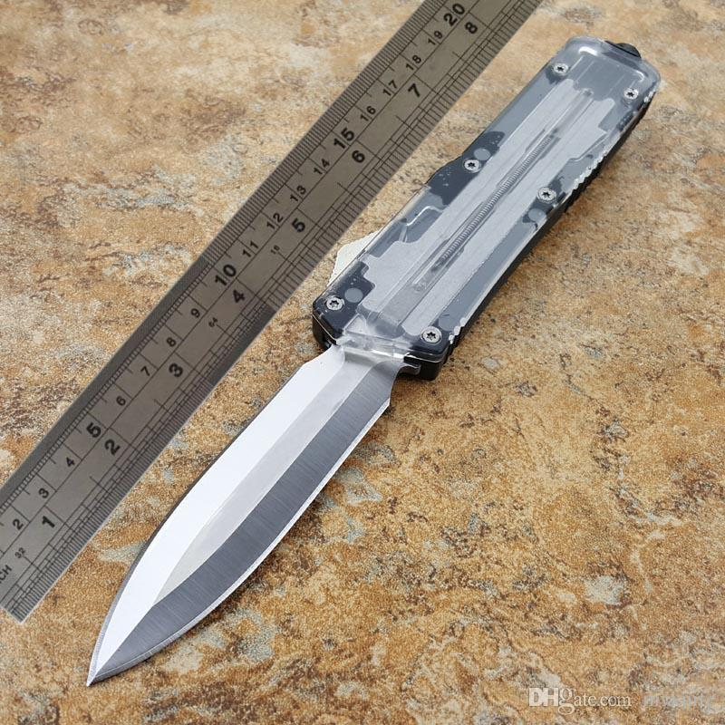 transparentes cuchillos cuchillo de automóviles automáticos TF doble acción opcional navaja de bolsillo Pesca Caza cuchillos cuchillo de la supervivencia del envío libre al por mayor