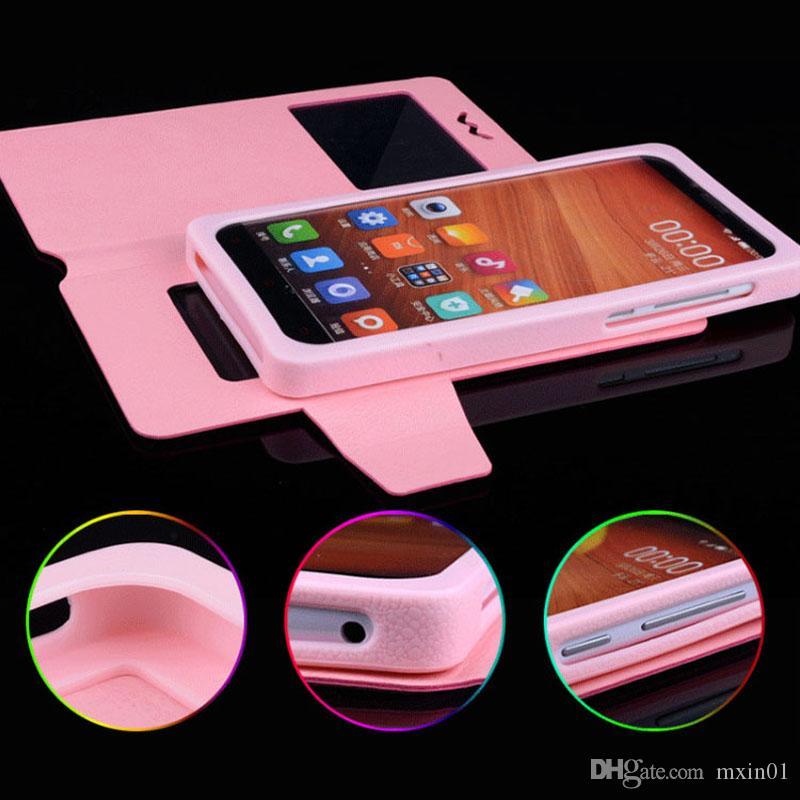 유니버설 창 아래로 당겨 지갑 PU 뒤집기 가죽 케이스 3.5 4.0 4.3 4.7 5.0 5.5 6 인치 모바일 휴대폰 Alcatel Huawei XiaoMi MOTO LG
