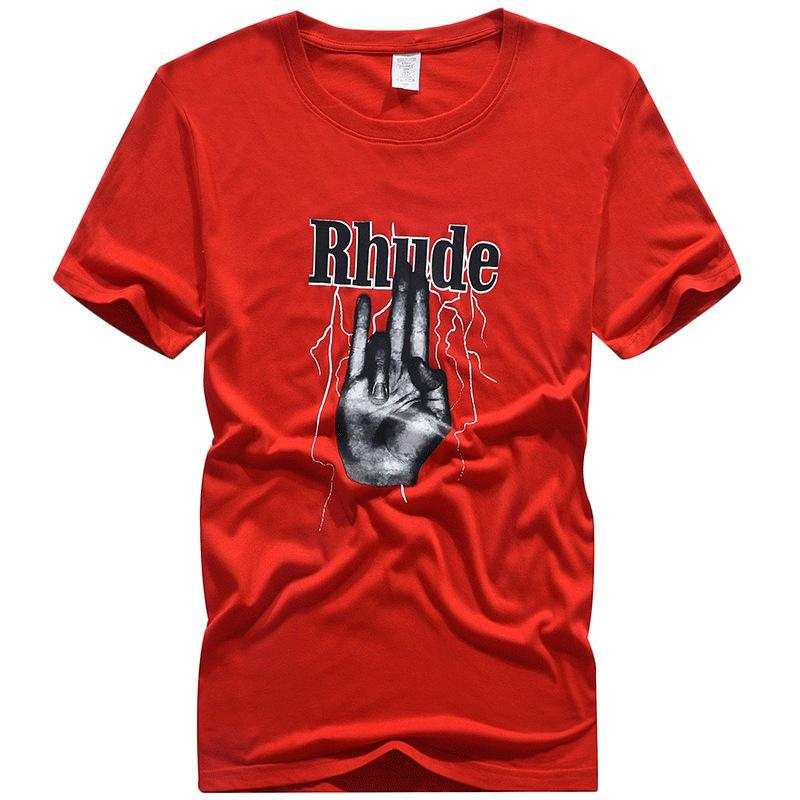 2020 новая мужская футболка Rhude screaming child Tee Chris Brown с круглым вырезом high street футболка с коротким рукавом мужская мода свободная футболка