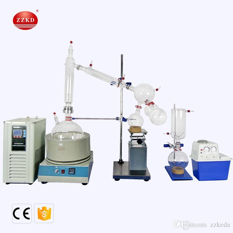 ZZKD ISO / CE Certificação 10L 220 V Curto Caminho de Destilação Padrão Conjunto / Chiller Bomba de Vácuo para equipamentos de Purificação