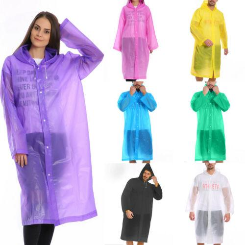 Fashion Men Women Waterproof Jacket EVA Hooded Raincoat Rain Coat Poncho Rainwear Raincoat Transparent