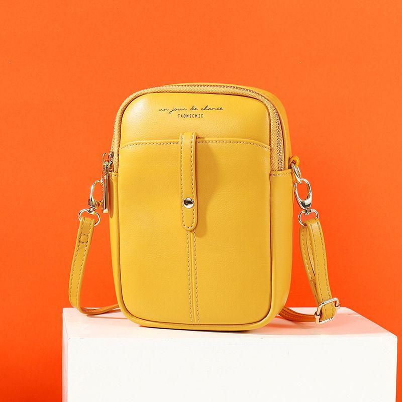2020 new female bag fashion PU ladies shoulder bag trendy mini vertical crossbody small square