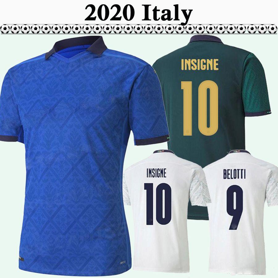 2020 ITALY Mens Soccer Jerseys BERNARDESCHI CHIELLINI EL SHAARAWY VERRATTI INSIGNE Home Away 3rd Football Shirts BELOTTI BONUCCI Uniforms