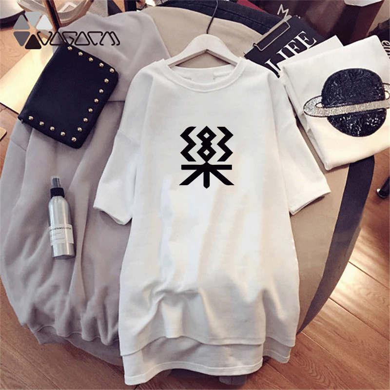 قمم النساء مصمم قمصان فساتين الصيف العلامة التجارية قصيرة الأكمام أزياء نمط مطبوعة طويل فاخر سيدة عرضي ثوب قميص C008
