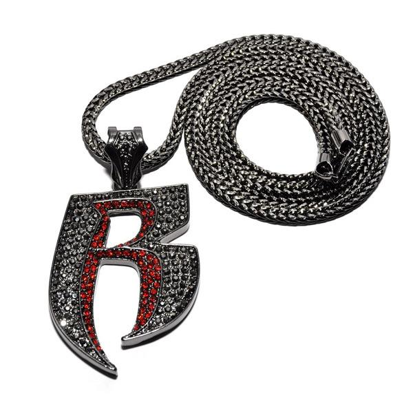 2020 designer necklace new diamond necklace alphabet necklace European and American hip-hop fashion personality alloy pendant jewelry