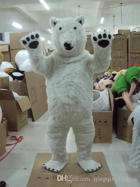 New Professional Polar Bear Mascot Costume Fancy Dress Adult Size for Halloween party event