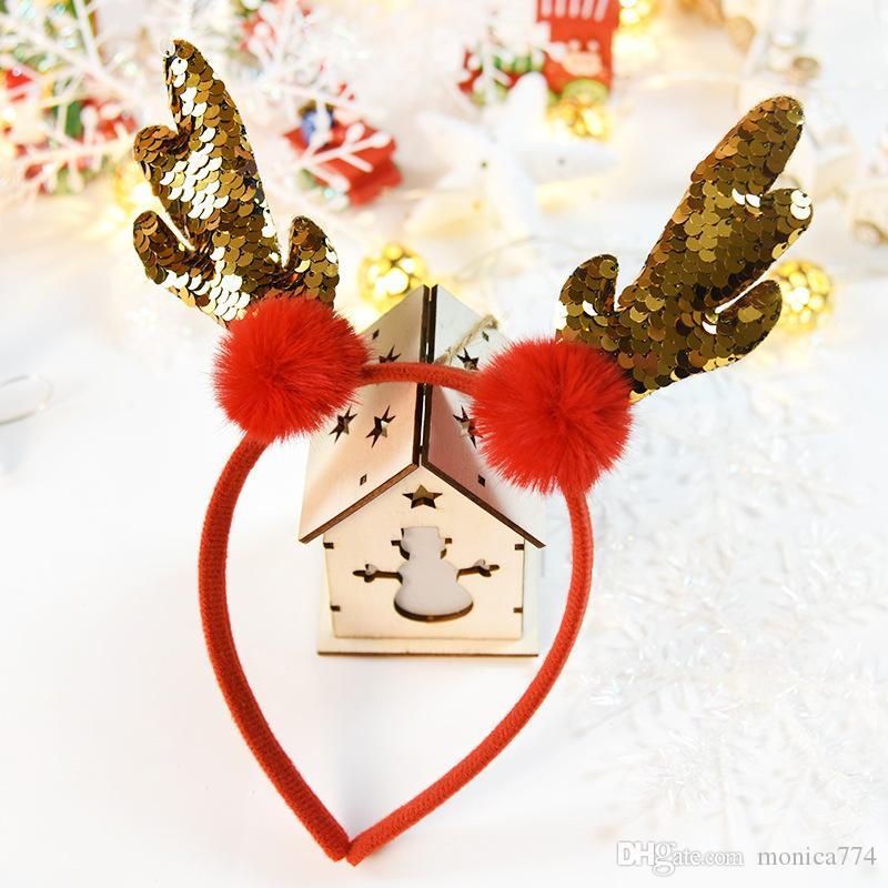 밴드의 새로운 여자 크리스마스 트리 헤어 스틱 아이 엘크 헤드 버클 헤드 밴드 만화 어린이 크리스마스 모자 눈사람 많은 디자인 M2