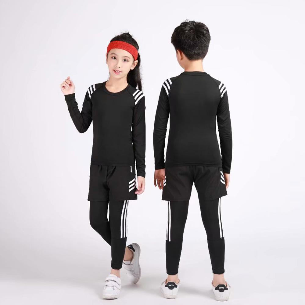 Kids Sports Running Set 2019 Sportswear Men Sport Suit Basketball Jogging Clothes Tights Gym Training Football Training Clothes