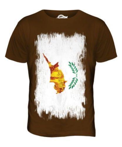 Bandera de aspecto envejecido de Chipre para hombres Camiseta Top camisa de regalo de fútbol de Chipre Kypros