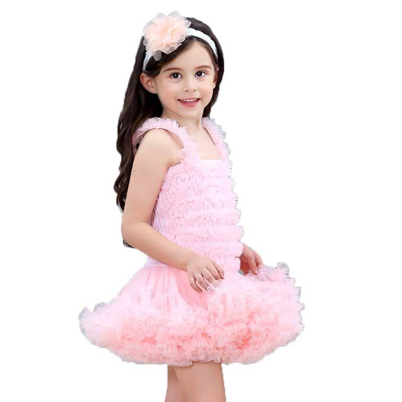 Muchachas del vestido del tutú de la fiesta mullido niños de la manera del bebé de los vestidos con volantes vestido de bola de la burbuja de una pieza de ballet vestido de la danza de la princesa Ropa