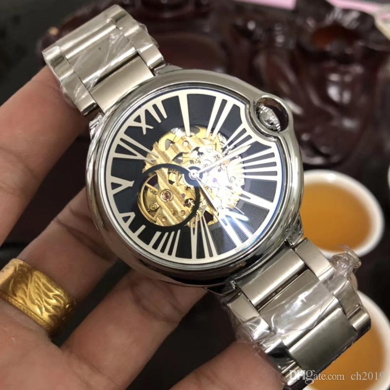 2019 Lüks Erkekler otomatik tasarımcı saatler moda markası izle bayan mekanik kaliteli etiket saatler kol saatleri womens