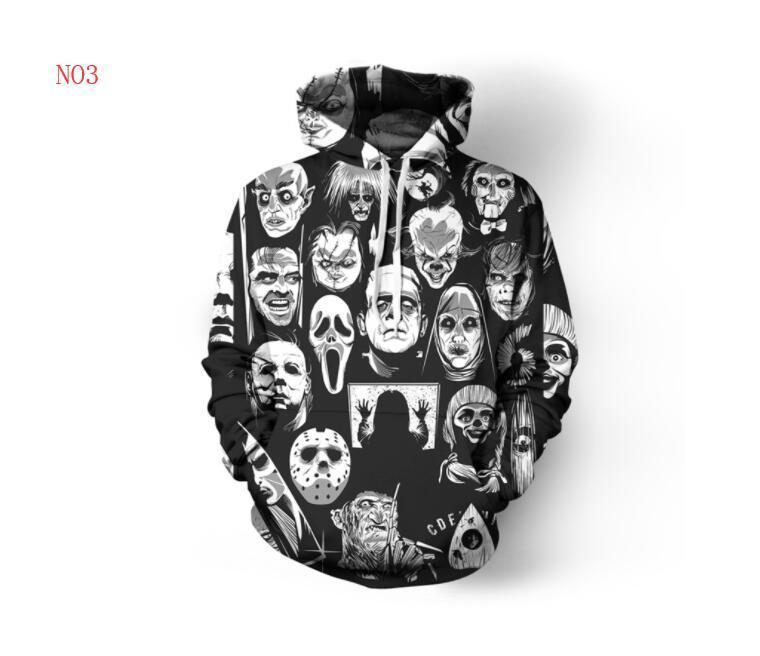 il progettista del mens pullover da uomo Felpa amanti 3D Skulls Felpe con cappuccio cappotti Ogreish Pullover Tees Abbigliamento S-5XL spedizione gratuita