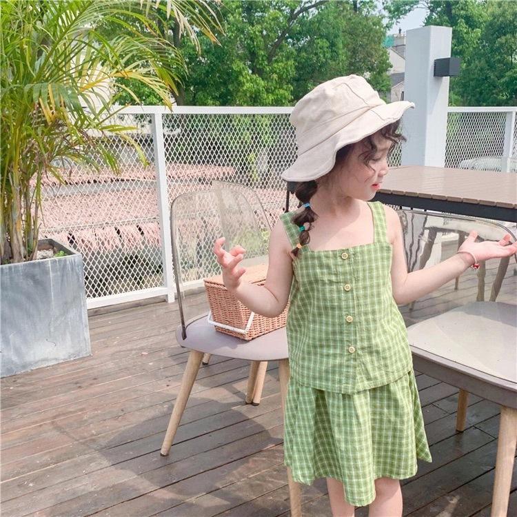 Grade Vestido presente bonito da festa vestido Princesas crianças Vestidos Verão grade de deslizamento 2020 New crianças do For Girls