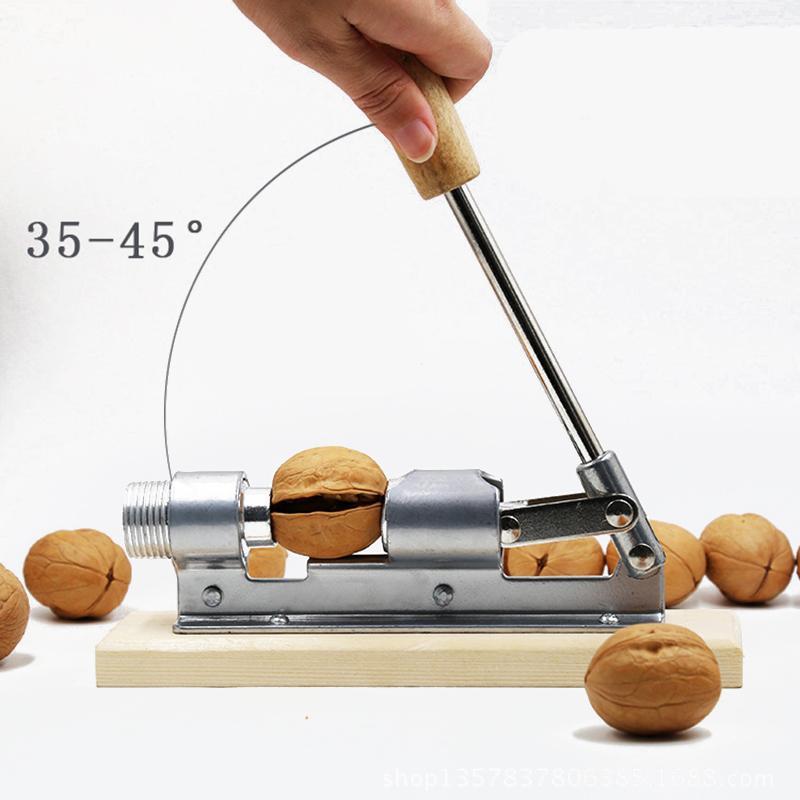 Ahşap Saplı Çok Fonksiyonlu Fındıkkıran Sheller Ceviz Cracker Pense Metal Açıcı Kitchen ile Paslanmaz Çelik Fındıkkıran