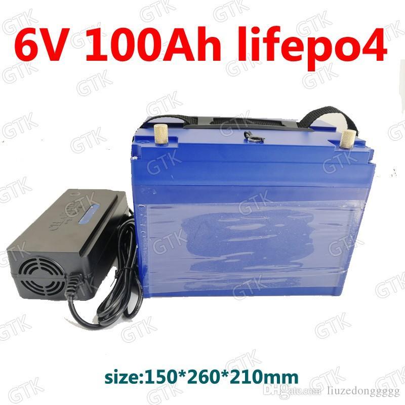 GTK 6v 100Ah Lifepo4 Battery 3 2v Lifepo4 BMS 2s 6 4v Not Lead Acid  Inverter EV Solar Energy RV Motorhome Wide Tire Electric Car Pp3 Battery  The