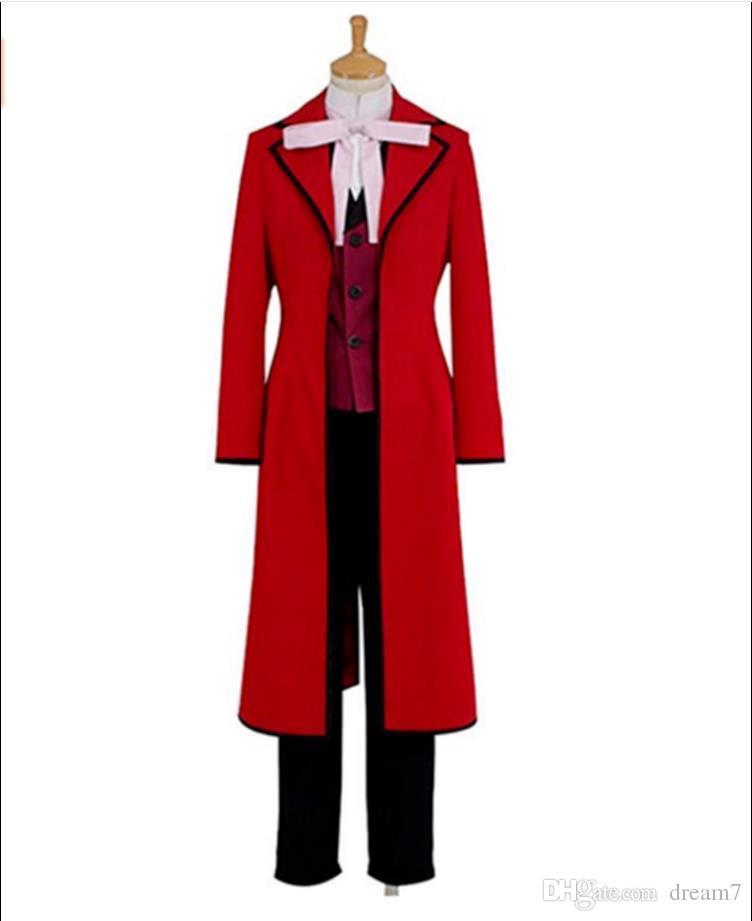 Black Butler Kuroshitsuji Shinigami Jack Ripper Grell Sutcliff Cosplay Costume