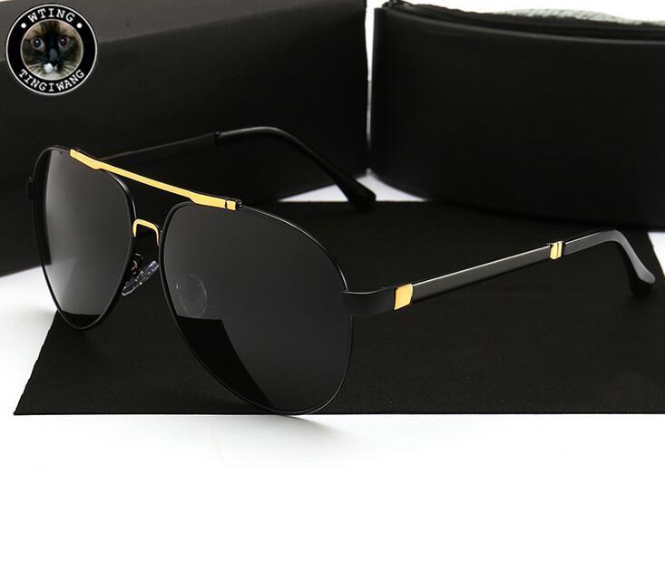 P8543 Brand Car Eyewear 2020 Aluminum Magnesium Men Sunglasses Polarized Sports Driving Night Vision Goggles Sunglass Fishing UV400 Glasses