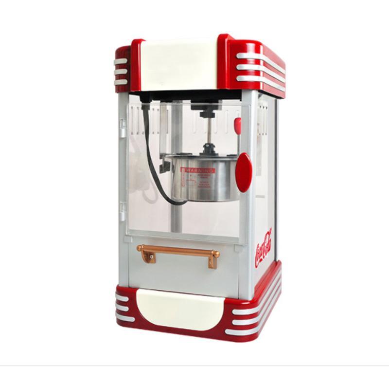 2020 New Super retro cantina restaurante de comida rápida Comercial máquina de las palomitas de maíz Pop Haciendo Certificación 220vCE.