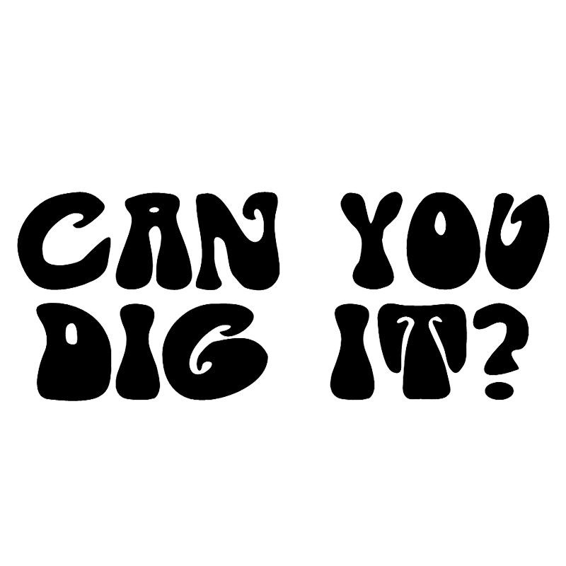 11.4*4.6cm Can You Dig It? 1970s Retro Slang Car Window Decal Vinyl Bumper Sticker Be Different Car Styling Car Sticker