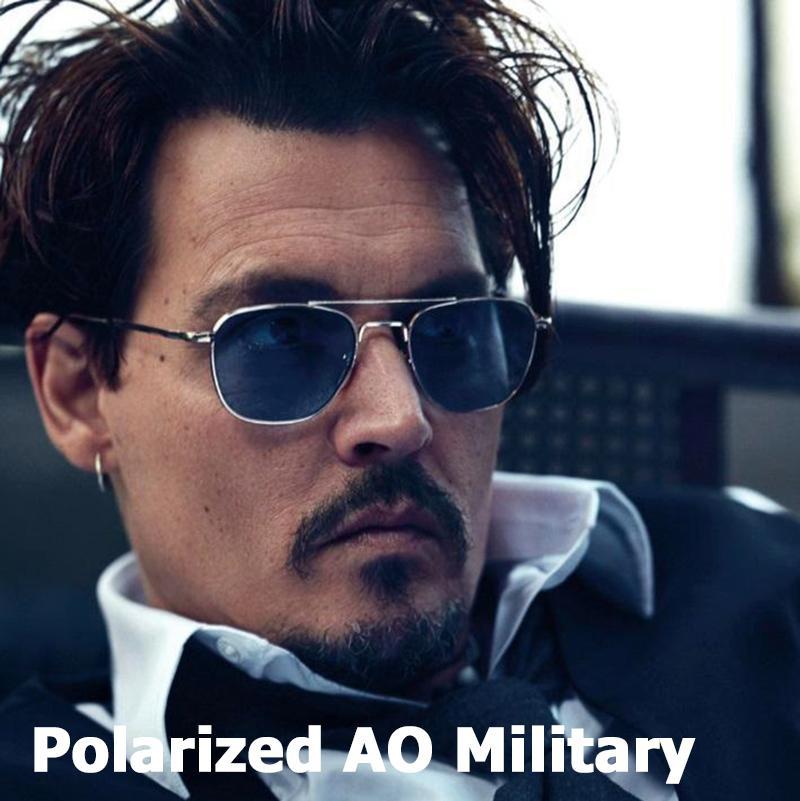 Estilo militar JackJad nuevo de la manera polarizada Ejército AO Aviación gafas de sol de los hombres de conducción diseño de marca de los vidrios de Sun Gafas de Sol A285 T200615