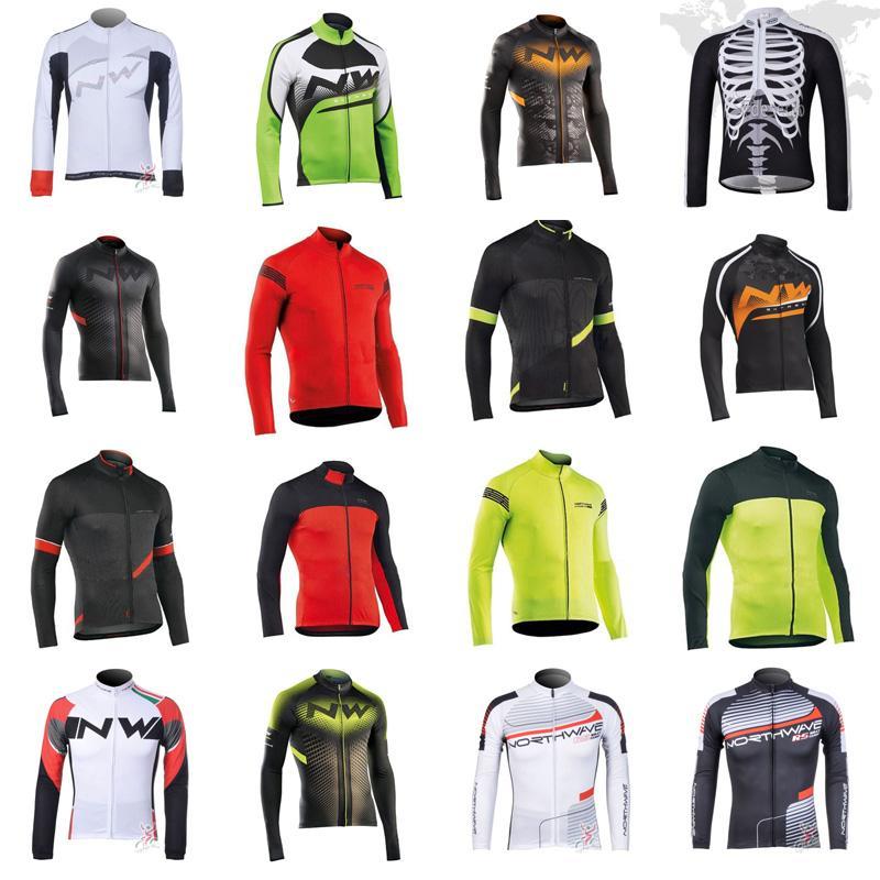 Desgaste NW equipo de ciclismo Jersey manga larga de la ropa de ciclo de secado rápido del ciclo de ropa Ropa de bicicletas de montaña Ciclismo B616-14