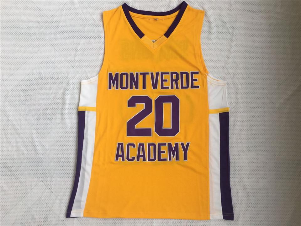 High School de Montverde Academy Eagles # 20 Ben Simmons Basketball Jersey