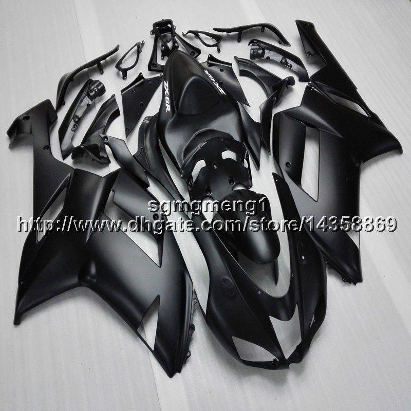 23colors + regalos carenado motocicleta negro para Kawasaki ZX636 ZX6R 07 08 ZX6R carenado de la motocicleta 2007-2008 ZX-636 de plástico ABS