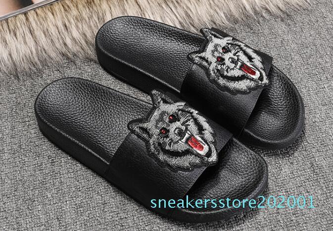 Top-Designer-Schuhe Luxus Slide Summer Fashion Breitflach Slippery Sandalen Slipper Flip Flop Größe 35-45 Blumenkasten S01