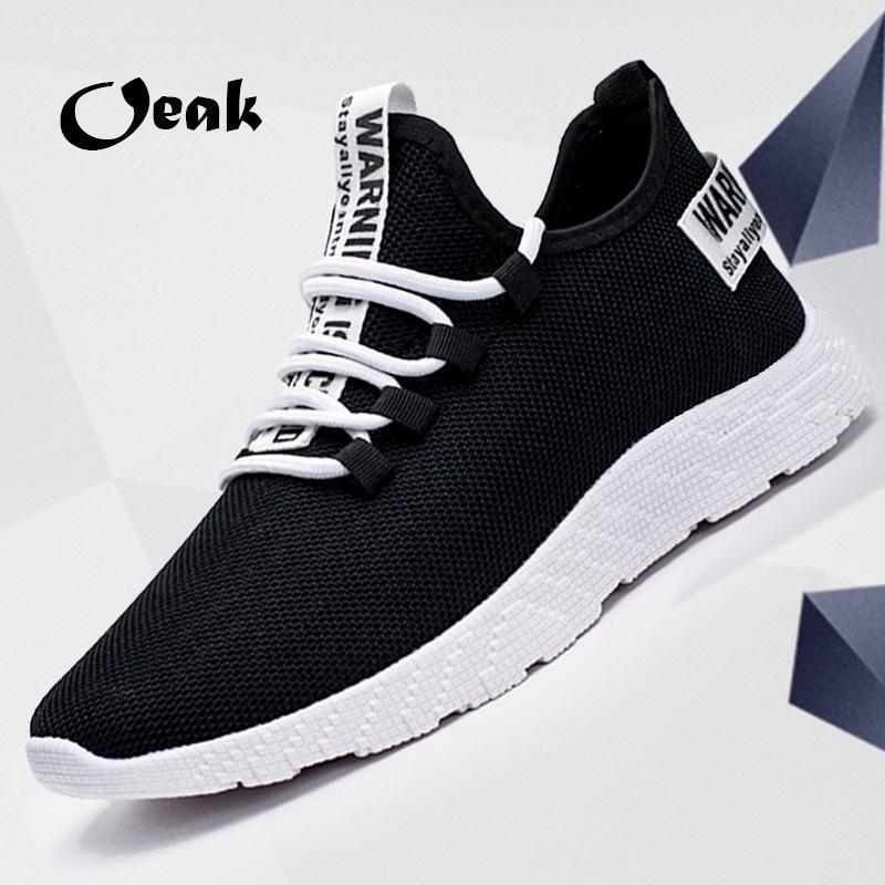 2019 Nueva malla a los hombres zapatos casuales zapatos de los hombres de peso ligero -up respirable cómodo Caminar zapatillas de deporte Tenis Femenino Zapatos