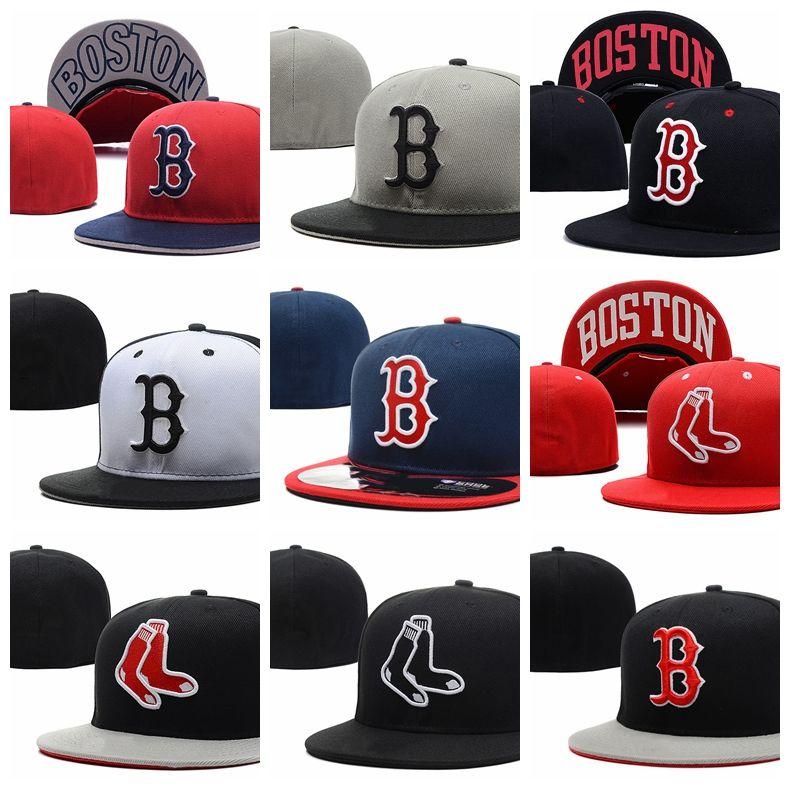 2019 Mode Erwachsene Gorro Casual Sommer Unisex Red Sox B Brief Baseball Caps Männer Frauen Hip Hop Visier Knochen Casquette ausgestattet Hüte