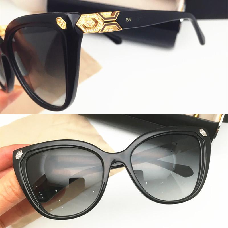 موضة جديدة فاخر مصمم النظارات الشمسية العلامة التجارية النساء الكلاسيكية نظارات الشمس سيدة الماس ساطع النظارات الشمسية ذات جودة عالية خلات لوح النظارات الشمسية