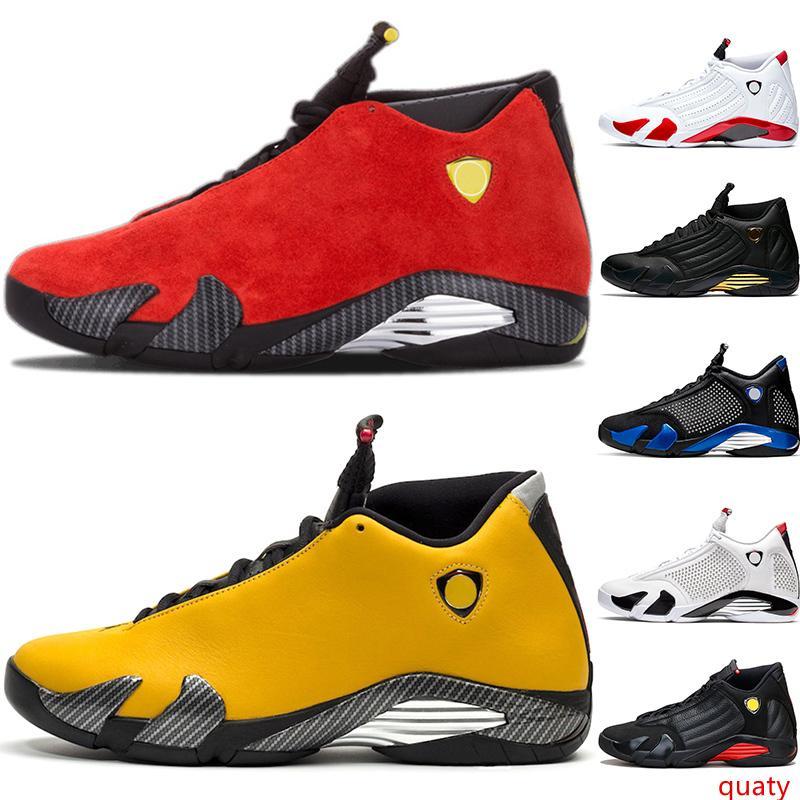 Дешевые 14 Candy Cane 14s мужская баскетбольная обувь черный носок песок пустыни белый красный желтый мужской тренер спортивные спортивные кроссовки оптом