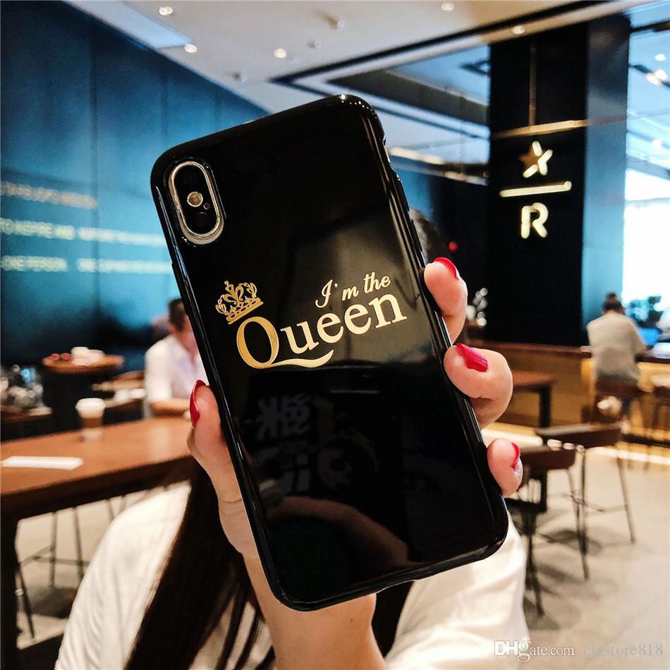 For iPhone 11 Pro XS Max X XR 8 4 4S 5 5S SE 5C 6 6S 7 Plus King Queen Phone For Coque iPhone 7 Plus Case fundas capa Back Cover