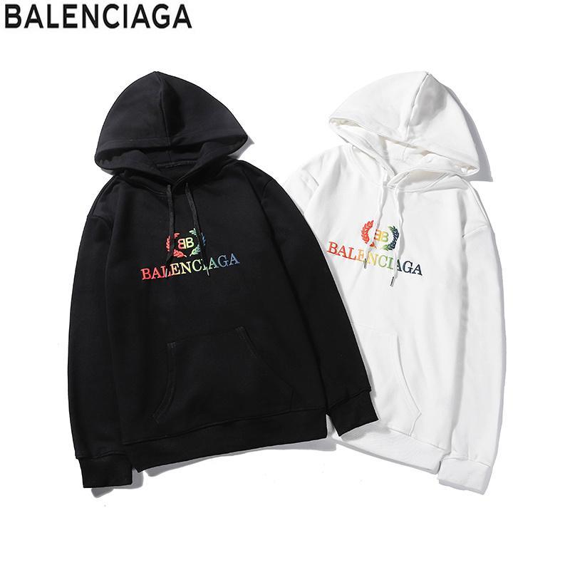 Sweats à capuche automne Hip Hop Long Black blanc à capuche à capuche pour hommes Sweat-shirts Plus Size M-2XL