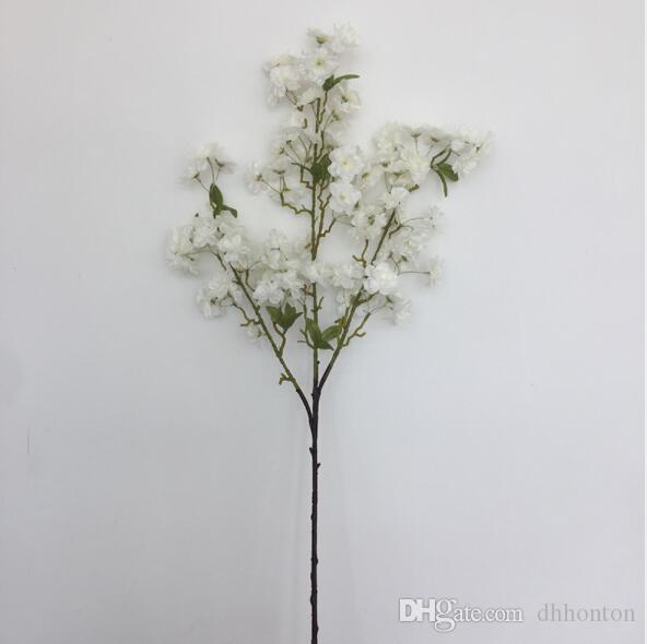 Commercio all'ingrosso fiore di ciliegio artificiale per la decorazione di nozze domestica seta sakura fiori artificiali 3 rami snow wildry Blossom