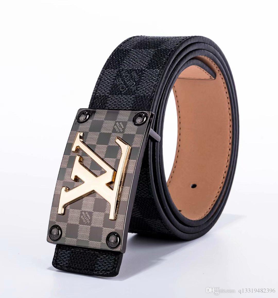2020 neue Herren Gürtel Luxuxqualitäts echter Ledergürtel für Männer automatischen Schnalle Marke Gürtel ceinture homme