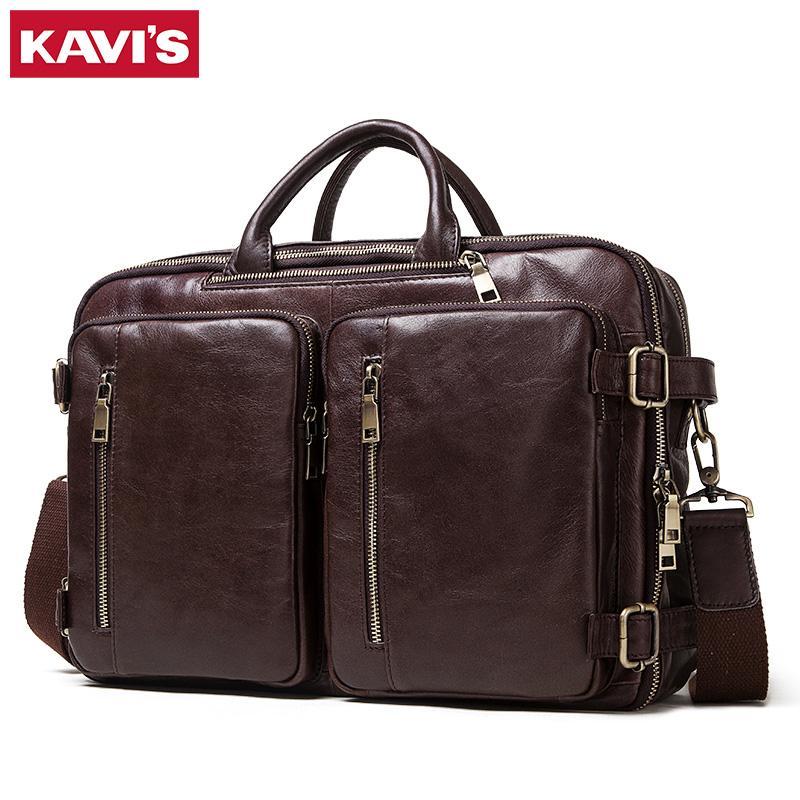 Borsa maschile Business multifunzione Zaino Zaino Tote e Genuine Laptop Quality Ufficio Uomo in pelle High Travel Handbag Fashion Rlqji