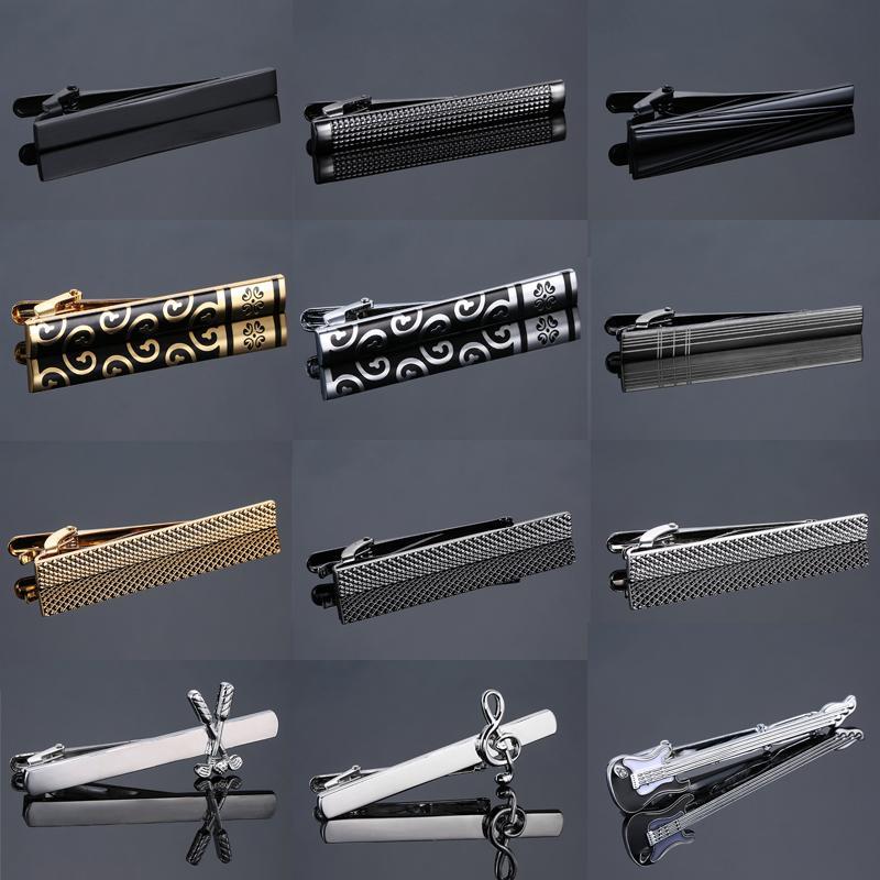 Classic Matte Tie Bar Mannen Sieraden Eenvoudige Geborsteld Gladde Hoge Kwaliteit Tie Clip Sluiting 12 stijl rvs Tie Pin geschenken