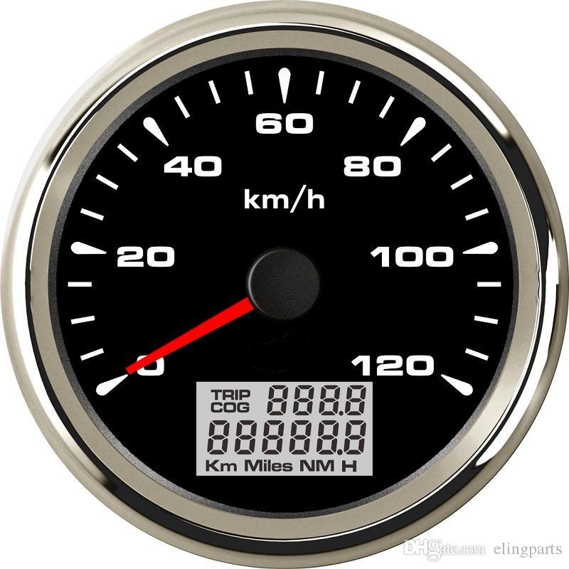 New Arrival 0-120km//h GPS Speedometer Trip Meters Odometers 9-32v Speed Gauges